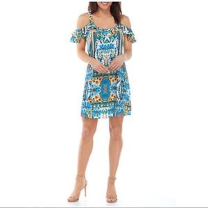 Be by Chetta B Womens Floral Dress Size 10 Tropica